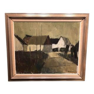 Vintage Mid-Century Bengt Hillgrund Swedish Painting For Sale