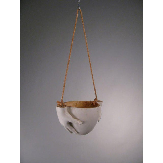 """1970s 1970s Ceramic """"Hands"""" Hanging Bowl by Richard Etts For Sale - Image 5 of 8"""