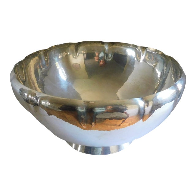 Mid-Century Gorham Sterling Punch Bowl For Sale