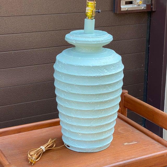 Modern 1980s Alsy Light Blue Plaster Table Lamp For Sale - Image 3 of 13