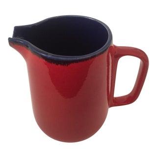 Vintage Mid-Century German Red Ceramic Pitcher