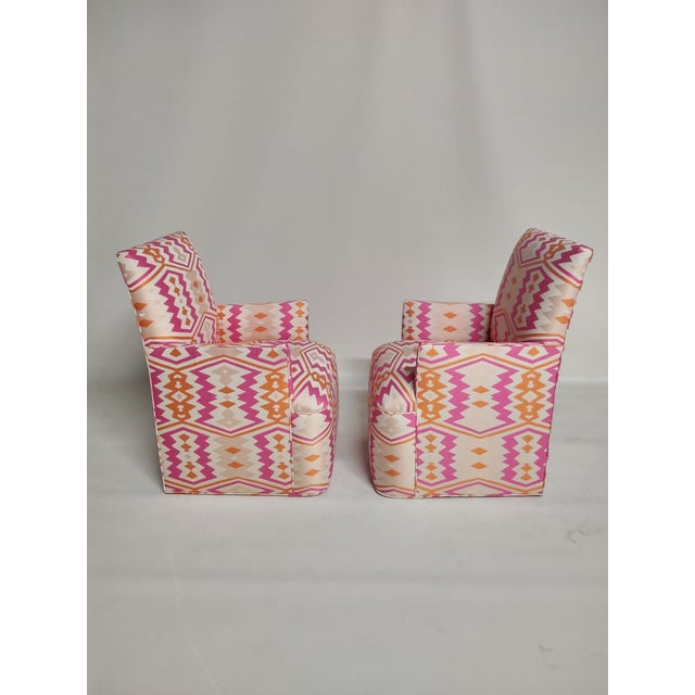 1920s Bright Geometric Arm Chairs - a Pair For Sale - Image 9 of 11
