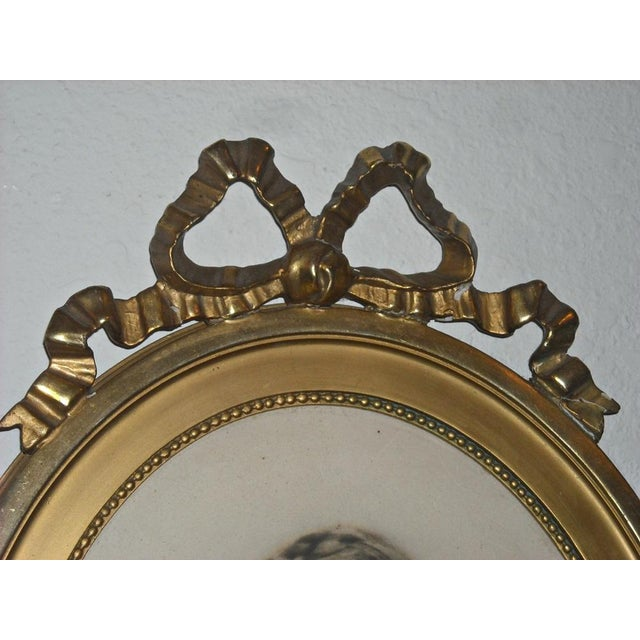 Antique Picture in Gilt Oval Frame - Image 5 of 5