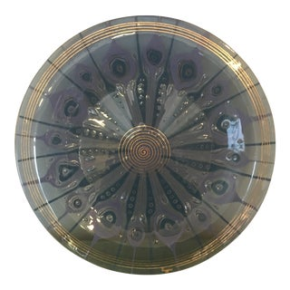 Higgins Art Glass Platter