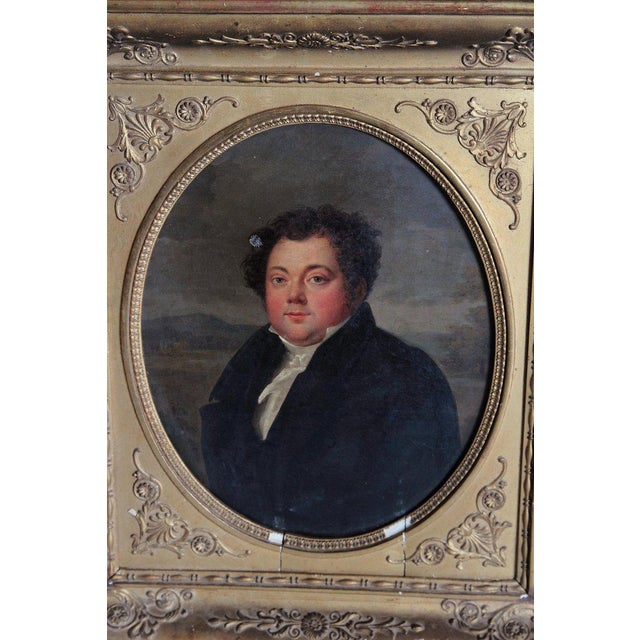 Canvas Early 19th Century French Oil on Canvas of a Man Dressed in Black For Sale - Image 7 of 13