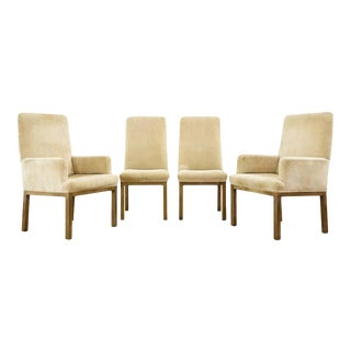 Set of Four Midcentury Bronzed Dining Chairs by Mastercraft For Sale