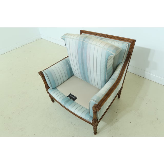 Nancy Corzine French Louis XVI Style Upholstered Chair For Sale - Image 9 of 12
