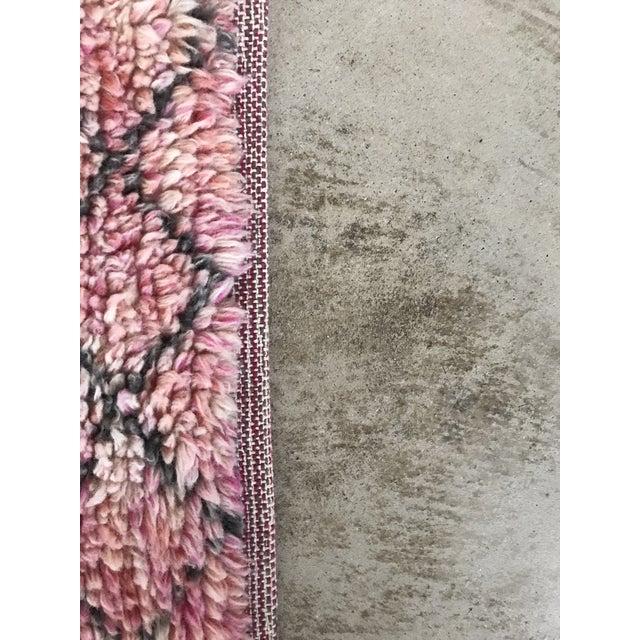2010s Vintage West Elm Watercolor Trellis Shag Rug - 5′ × 8′ For Sale - Image 5 of 7
