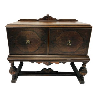Antique Jacobean Style Buffet Cabinet For Sale