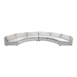 Milo Baughman Semi-Circular Sofa by Thayer Coggin For Sale