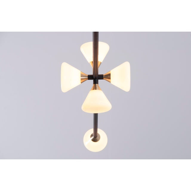 Contemporary Apollo 6 Chandelier by McKenzie & Keim For Sale - Image 3 of 13