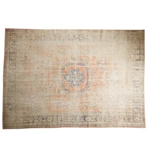 "Vintage Distressed Oushak Carpet - 7'9"" X 11'1"" For Sale"