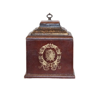 French Box Style Wood With Design For Sale