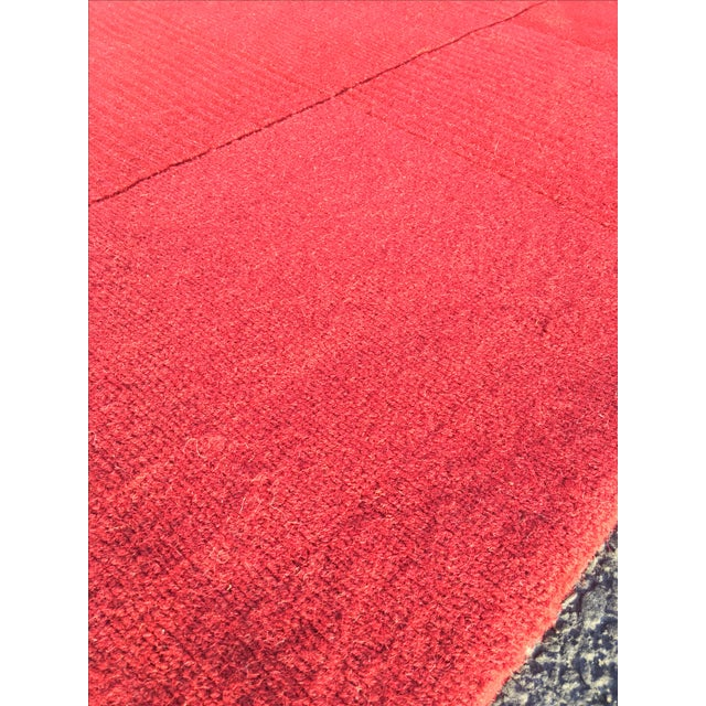 """Red Hand-Tufted Rug - 4'8"""" x 6'8"""" - Image 7 of 8"""