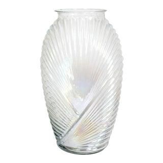 Rare Translucent & Iridescent 80's Art Deco Vase For Sale