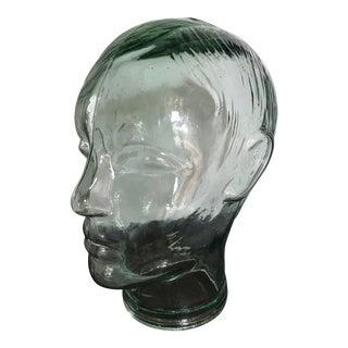 Antique Glass Mannequin Head Sculpture