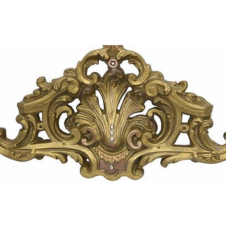 Antique French Bed Canopy Crown Pediment Preview