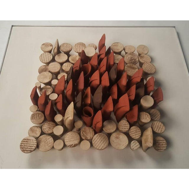 Relique III, Low Relief Abstract Ceramic Wall Sculpture by Will Farrington - Image 5 of 6