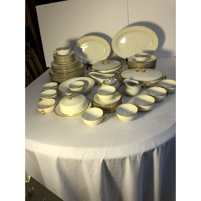 A very nice elegant dinnerware set by WH Grindley of England. This set is discontinued and it in the Marengo pattern has...