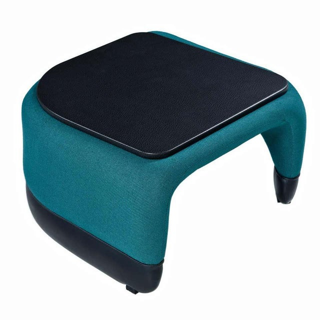 Jan Ekselius Style Modern Modular Teal Tweed Sectional Sofa Seating - Set of 10 For Sale - Image 9 of 13