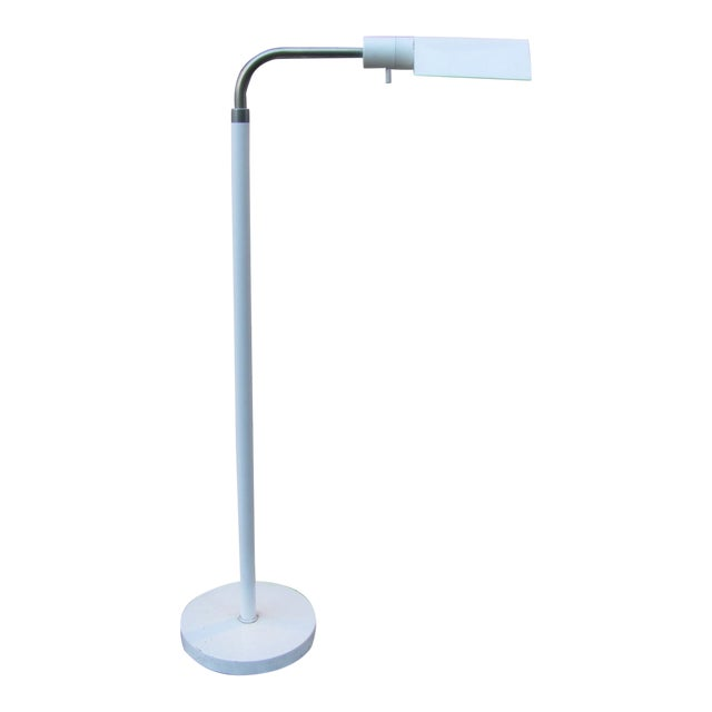 Mid 20th Century Adjustable Height Floor Lamp by J Mendizabal for Industria Argentina With Shade For Sale