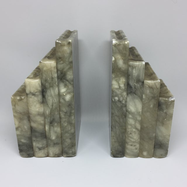 Marble Stacked Books Bookends - A Pair - Image 7 of 8