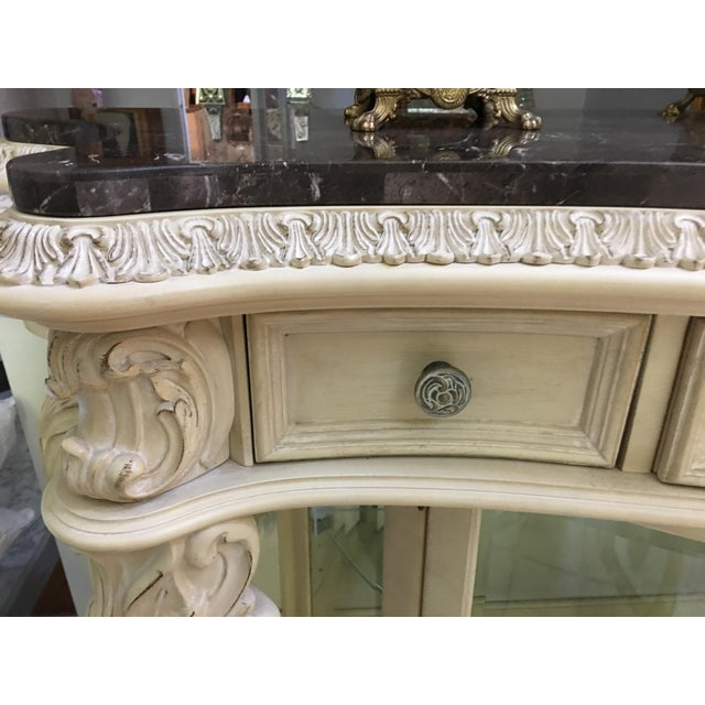 French Carved Server Display Cabinet by Pulaski For Sale - Image 9 of 11