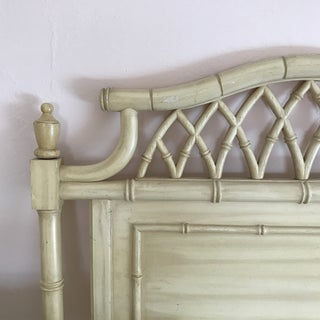 20th Century Hollywood Regency Thomasville Allegro Pagoda Faux Bamboo Twin Headboard Preview
