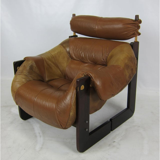 Primitive Rosewood Lounge Chair by Percival Lafer For Sale - Image 3 of 7