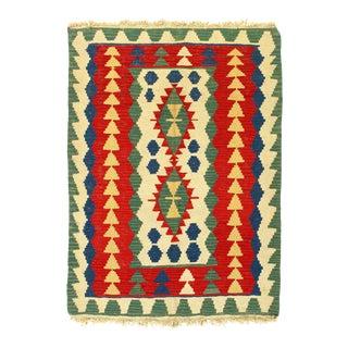 Multi Color Flat Weave Turkish Kilim Rug For Sale