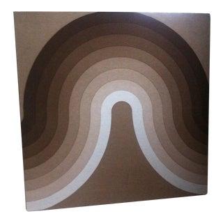 1960s-1970s Vintage Verner Panton Mira Spectrum Fabric Wall Hanging