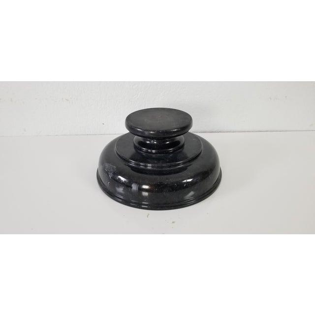 Stone Vintage Black Marble Pedestal Bowl For Sale - Image 7 of 9