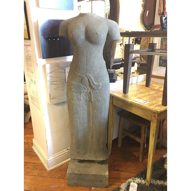 Sandstone Sculpture of a Female Form From Thailand - Image 3 of 9
