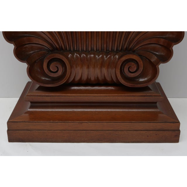 Dunbar Furniture Shell Motif Mahogany Console Table by Edward Wormley for Dunbar Furniture For Sale - Image 4 of 10