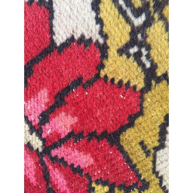 Cotton Vintage Turkish Rug Double Lion Tibetan Style Wool Rug - 4′7″ × 7′9″ For Sale - Image 7 of 10