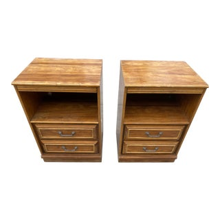 1970s Traditional Bamboo Side Tables - a Pair For Sale