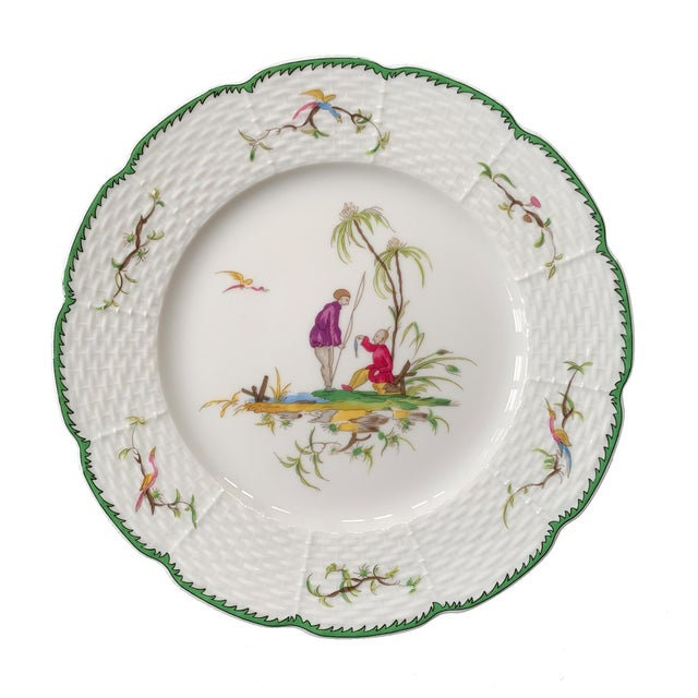 """2000 - 2009 Raynaud Chinoiserie Dessert Plates in """"Si Kiang"""" Pattern - Set of 5 For Sale - Image 5 of 10"""