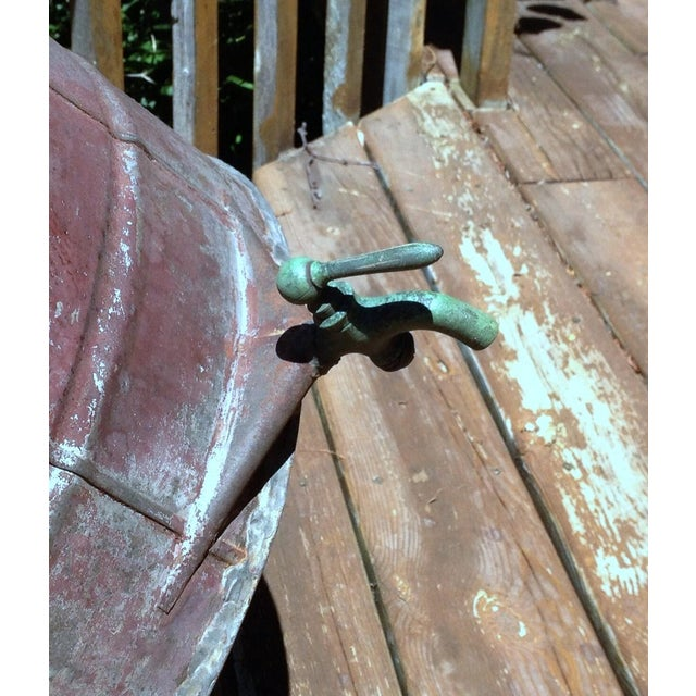 Antique 1880s Naphtha Barrel with Spigot For Sale - Image 6 of 6