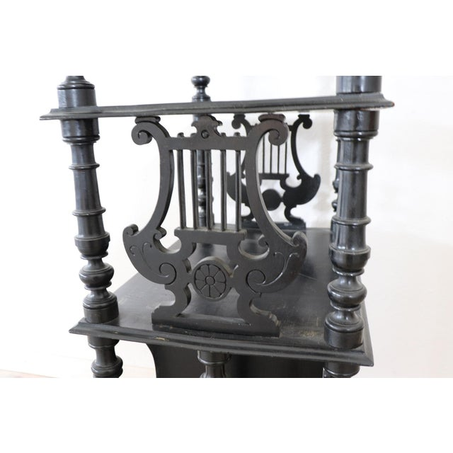 Late 19th Century 19th Century Italian Walnut Carved Étagère For Sale - Image 5 of 11