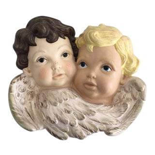 """Sweet Faces"" Cherub Plaque For Sale"