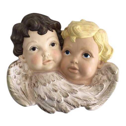 """Sweet Faces"" Cherub Plaque - Image 1 of 6"