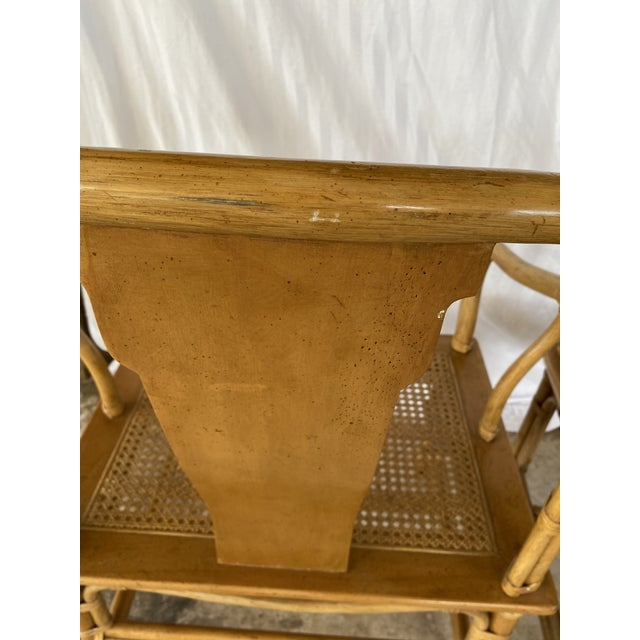 Henredon Henredon Ming Rattan Chairs - a Pair For Sale - Image 4 of 13