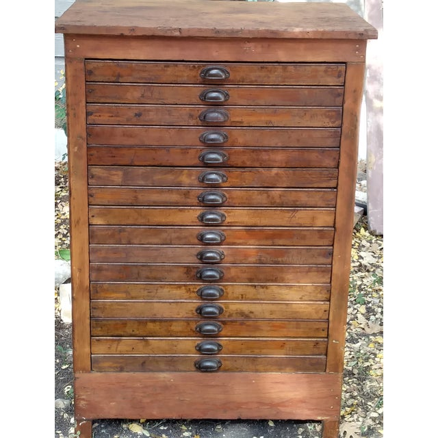 Antique Letterpress Cabinet - Image 2 of 8 - Antique Letterpress Cabinet Chairish