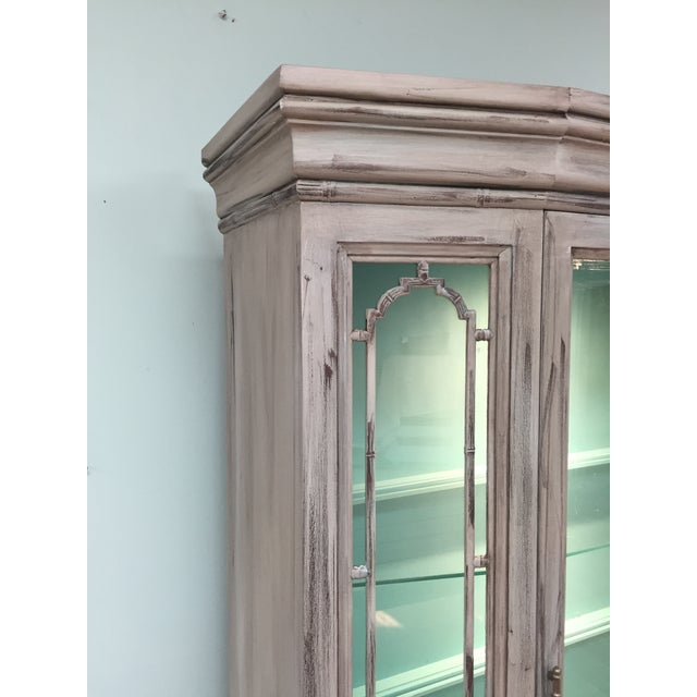 Gray Mid-Century China Cabinet Hutch - Image 5 of 11