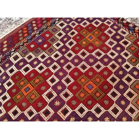 Vintage Embroidered Turkish Rug - 4′5″ × 6′10″ - Image 4 of 5