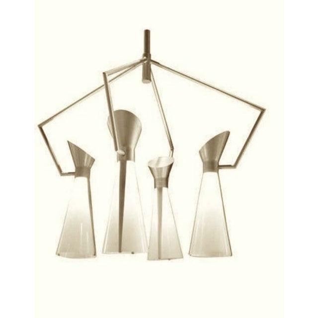 Mid Century Extreme Modernism Victor Gruen for John Lautner Chandelier Hanging Lamp For Sale In Los Angeles - Image 6 of 11