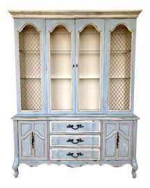 Image of Light Yellow China and Display Cabinets
