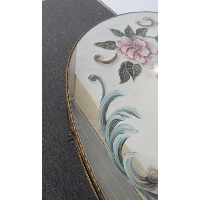 Regency Style Églomisé Coffee Table For Sale - Image 4 of 8