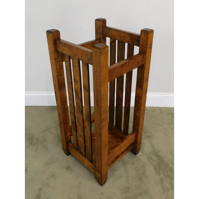 Mission Style Antique Umbrella Stand For Sale - Image 4 of 13