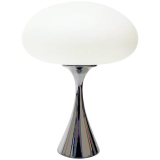 Chrome Mushroom Lamp by Bill Curry for Laurel For Sale